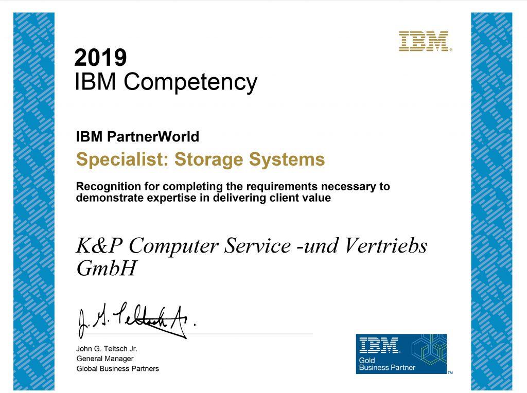 Zertifikat IBM Storage