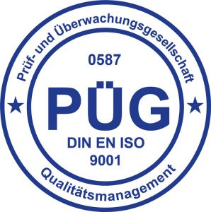 Zertifikat PÜG DIN ISO 9001