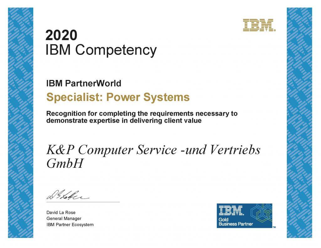 Zertifikat IBM Power